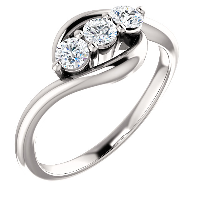 Genuine Platinum 0.33 Carat TW Diamond Ring