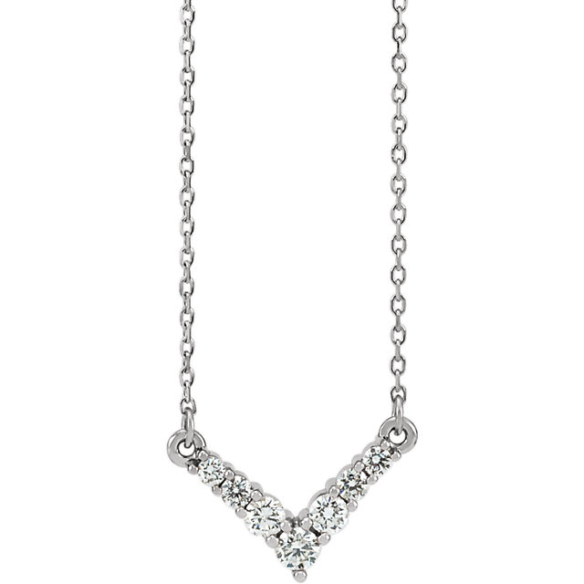 Appealing Jewelry in Platinum 0.33 Carat Total Weight Diamond