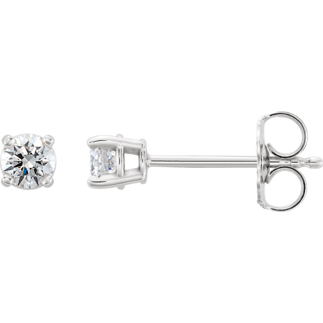 Pleasing Platinum 1 3 Carat Total Weight Lab Grown Round Genuine Diamond Stud Earrings