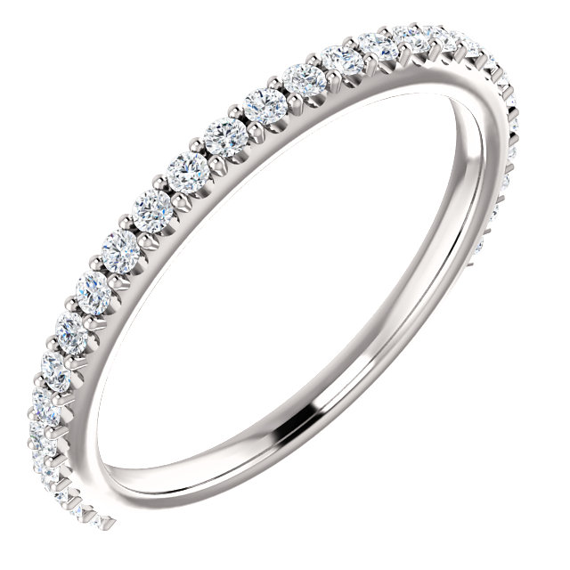 Fantastic Platinum 1/4 Carat TW Round Genuine Diamond Band