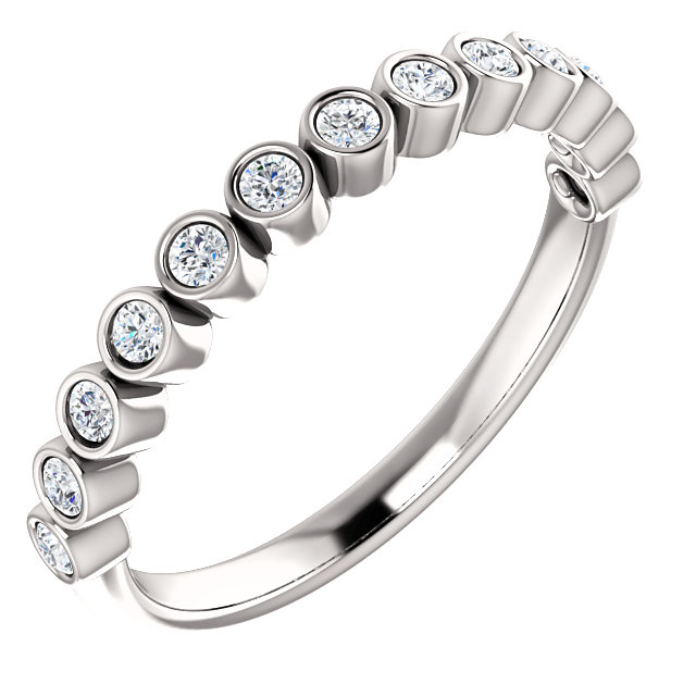 Appealing Jewelry in Platinum 0.25 Carat Total Weight Diamond Ring