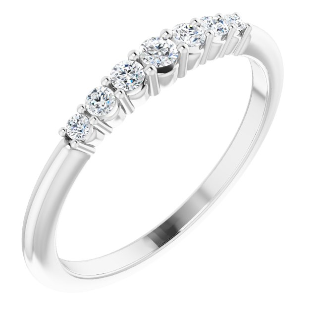 Genuine Diamond Ring in Platinum 1/4 Carat Diamond Stackable Ring