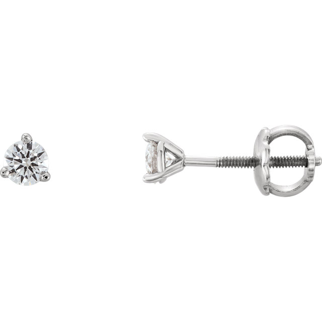 Chic Platinum 0.20 Carat Total Weight Diamond Earrings
