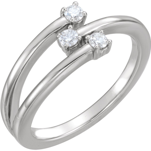 Deal on Platinum 0.20 Carat TW Diamond Freeform Ring