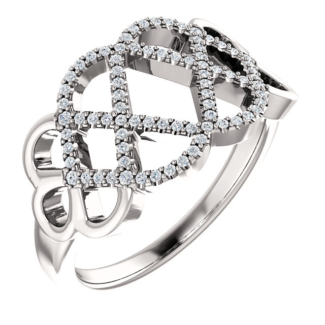 Great Buy in Platinum 0.20 Carat Total Weight Diamond Woven Ring