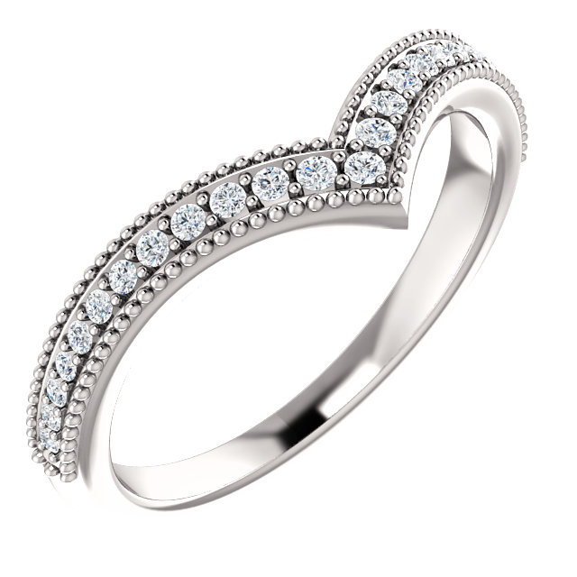 Fine Quality Platinum 0.17 Carat Total Weight Diamond Stackable