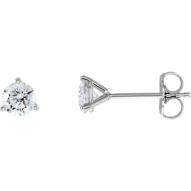 Chic Platinum 0.75 Carat Total Weight Lab-Grown Diamond Stud Earrings