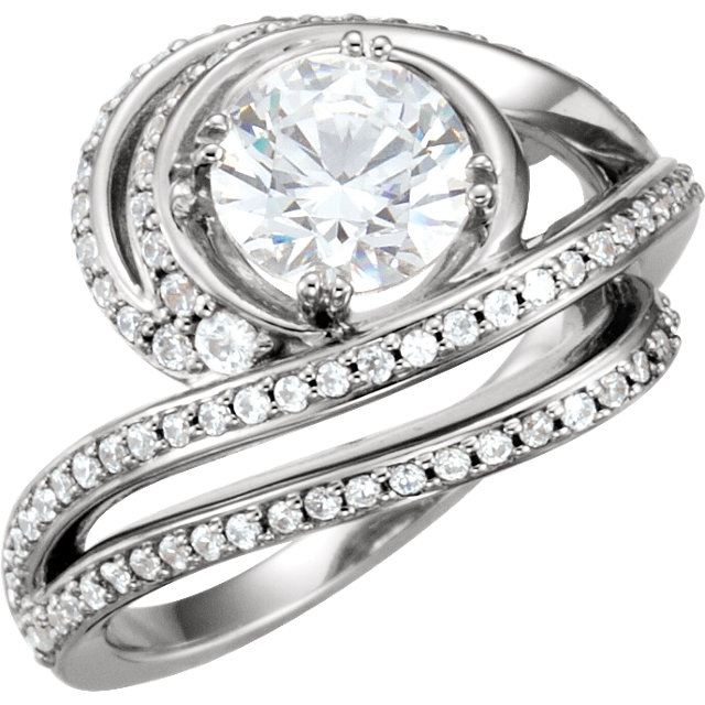 Platinum 3/4 CTW Diamond Engagement Ring