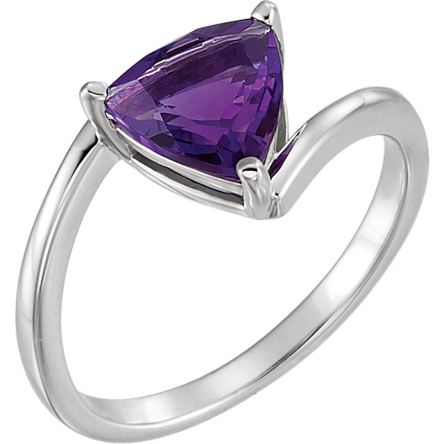 Eye Catchy Platinum Amethyst Ring