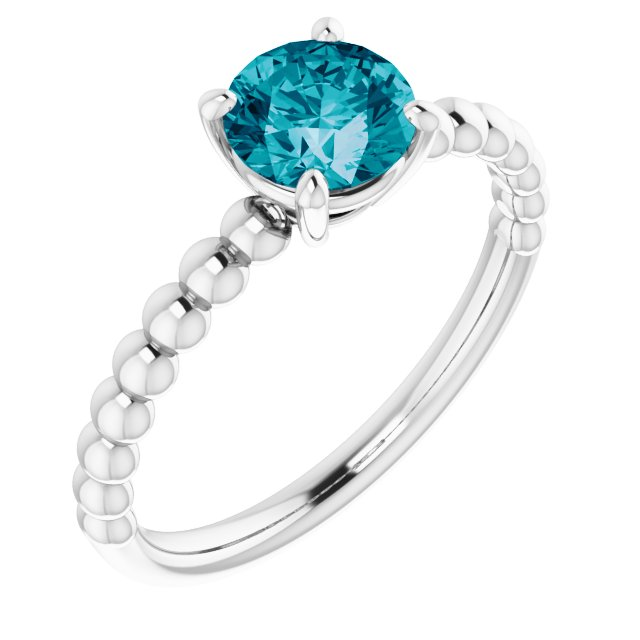 Genuine Topaz Ring in Platinum London Genuine Topaz Beaded Ring