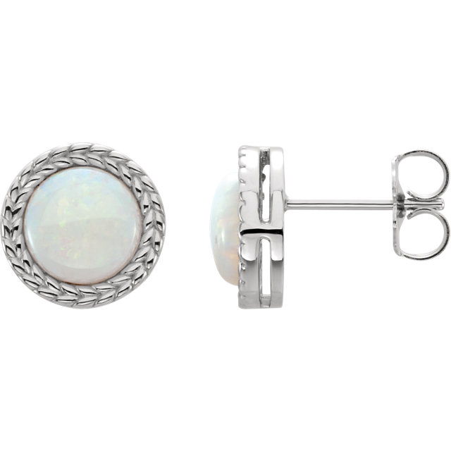 Great Gift in Platinum Opal Earrings