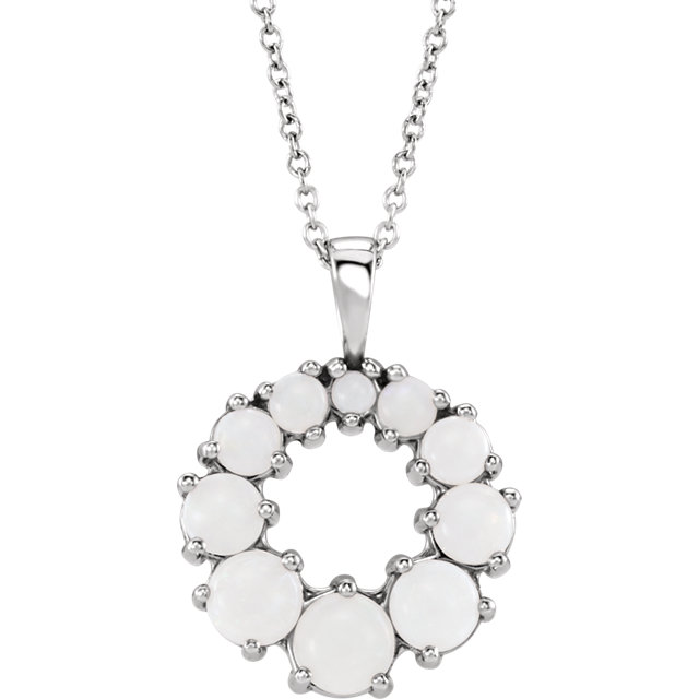 Low Price on Quality Platinum Opal Halo-Style 18