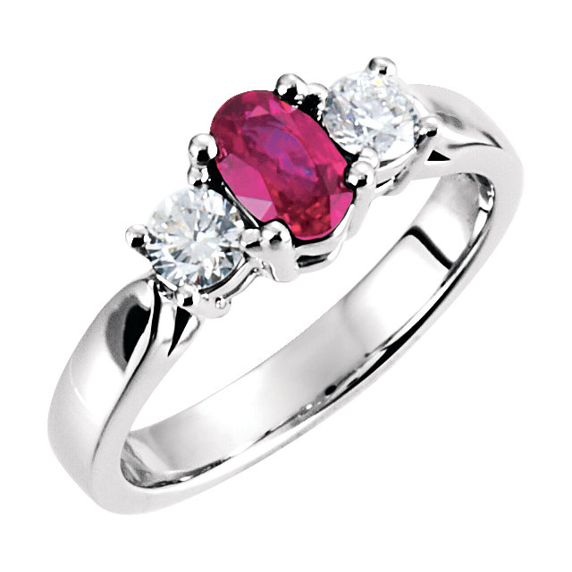 Eye Catchy Platinum Ruby & Diamond Ring