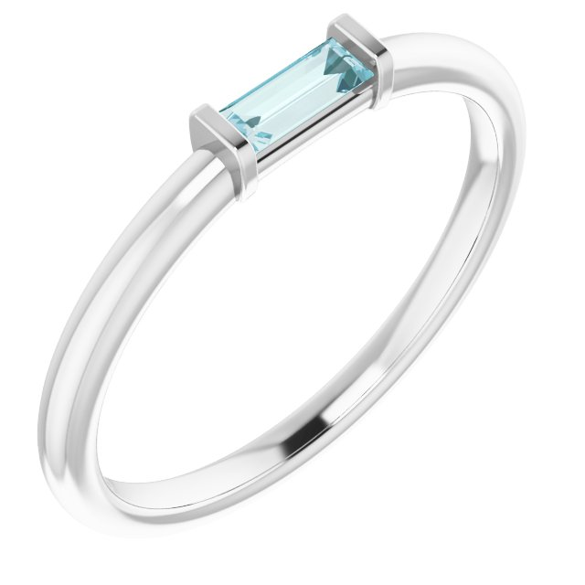 Genuine Topaz Ring in Platinum Sky Genuine Topaz Stackable Ring