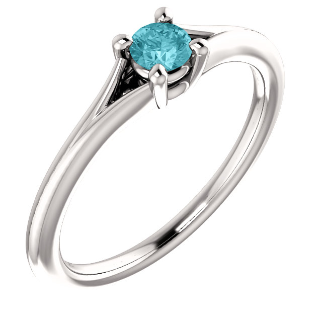 Platinum Zircon Youth Ring