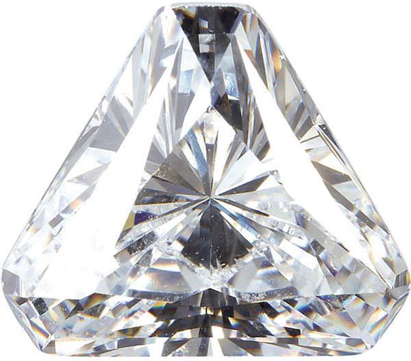 Point Triangle White Cubic Zirconia Stones
