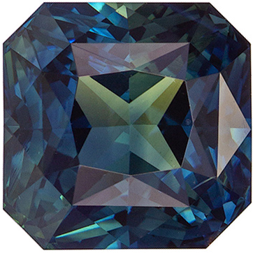 Popular Gem Blue Tealish Green Sapphire Radiant No Heat, 3.58 carats, 7.72 x 6.08 mm, GIA Cert