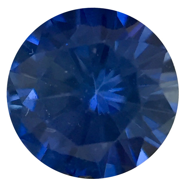 Precision Cut Round Genuine Blue Sapphire in Grade A