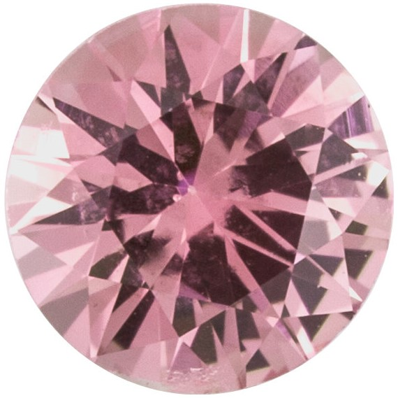 Loose Natural  Precision Cut Pink Sapphire Gem, Round Shape, Grade A, 3.75 mm in Size, 0.25 Carats