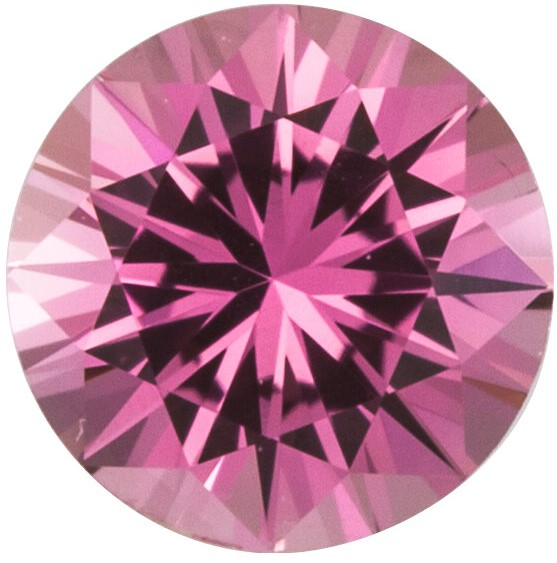 Faceted Precision Cut Pink Sapphire Gemstone, Round Shape, Grade AA, 1.50 mm in Size, 0.02 Carats