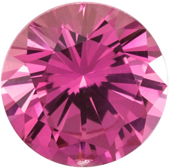 Loose Genuine  Precision Cut Pink Sapphire Stone, Round Shape, Grade AAA, 1.50 mm in Size, 0.02 Carats
