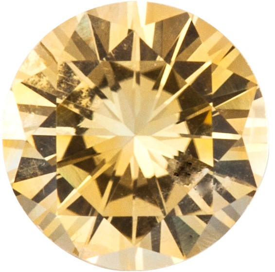 Loose  Precision Cut Yellow Sapphire Gem, Round Shape, Grade A, 1.50 mm in Size, 0.02 Carats