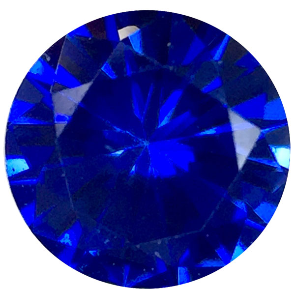Precision Diamond Cut Round Genuine Blue Sapphire in Grade AAA