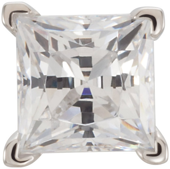 Pretty 14kt Gold 4 Prong Tall Peg VEnd Jewelry Finding for Princess Gemstone Size 3mm to 7mm