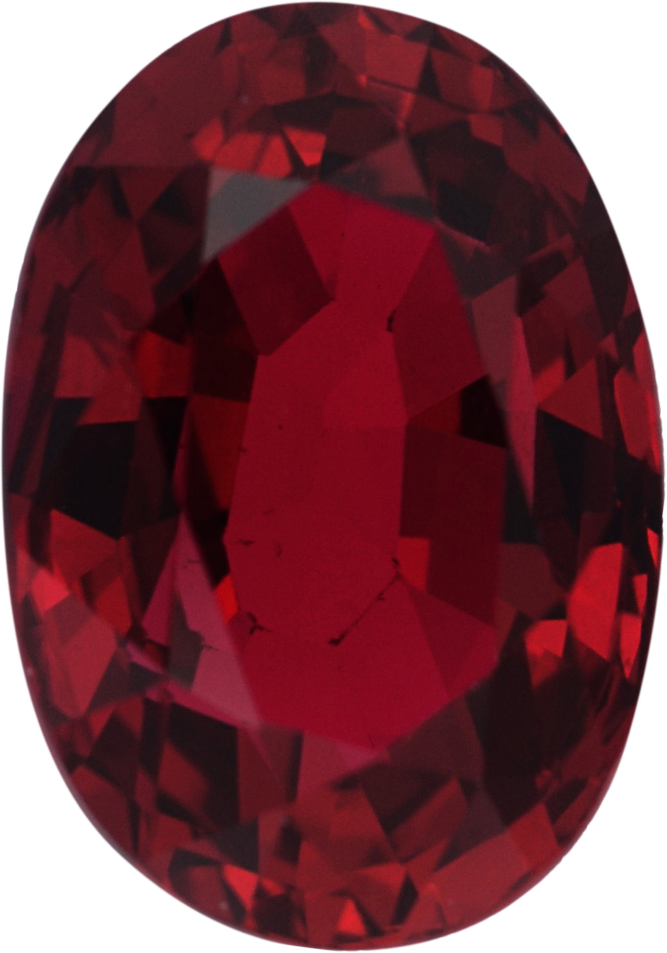 Pretty Loose Ruby Gem in Oval Cut,  Red Color, 6.85 x 4.80 mm, 1.14 carats