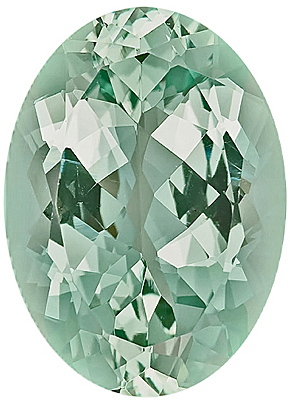 Pretty Mint Green Nigerian Beryl Gemstone, Oval Cut, 23.9 x 6.9 mm, 24.35 carats