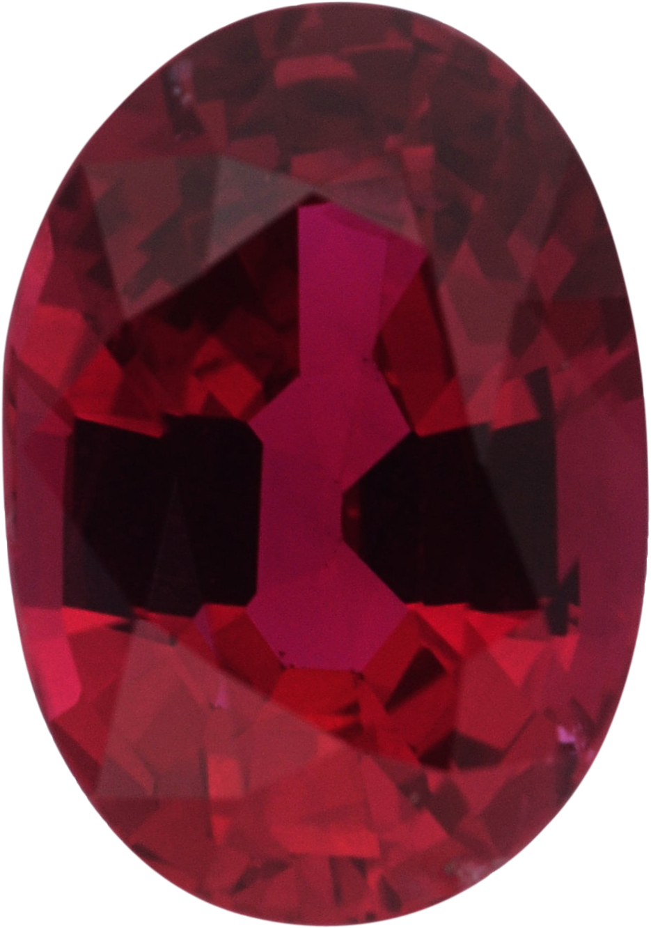 Pretty Oval Cut Loose Ruby Gem, Red Color, 6.82 x 4.79 mm, 0.9 carats