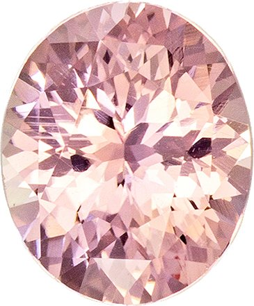 Pretty Padparadscha Unheated GIA Loose Sapphire Gem in Oval Cut, 6.51 x 5.39 x 3.55 mm, 0.91 carats - SOLD