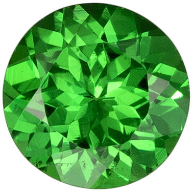 Pretty Stone in Green Tsavorite Round Cut, 0.57 carats, 5.1 mm