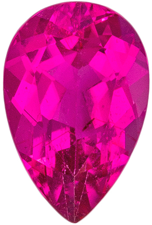 Deal on Pretty Rubellite Tourmaline Loose Gem, Pear Cut, Rich Fuchsia, 0.9 carats , 7.9 x 5.1 mm