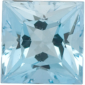 Princess Cut Genuine Aquamarine in Grade AAA