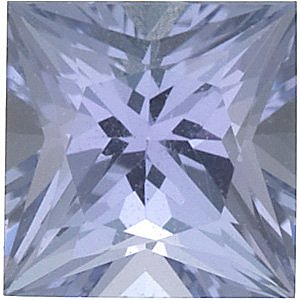 Princess Cut Genuine Tanzanite in Grade AA