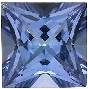 Princess Cut Genuine Tanzanite in Grade AAA