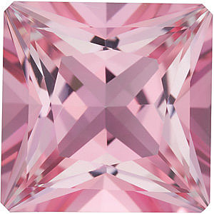 Princess Shape Baby Pink Passion Topaz Gemstone Grade AAA, 8.00 mm in Size