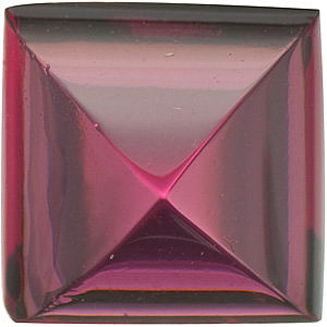 Standard Size Faceted Loose Princess Shape cab Rhodolite Garnet Grade AAA, 5.00 mm in Size, 1.15 carats