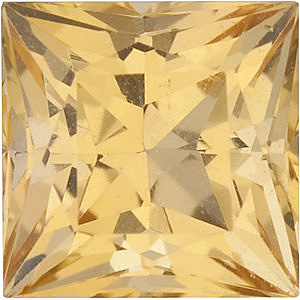Princess Shape Precious Golden Topaz Natural Quality Loose Cut Gemstone Grade AAA, 2.50 mm in Size