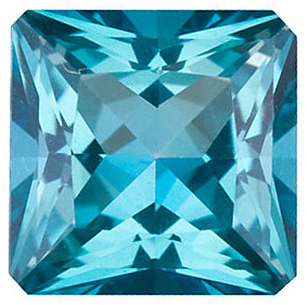 Princess Shape Teal Passion Topaz Natural Quality Loose Cut Gemstone Grade AAA  8.00 mm in Size