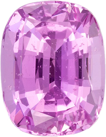 Pure Pink No Heat GIA Sapphire Loose Gem in Cushion Cut, 7.67 x 5.92 mm, 1.71 carats - With GIA Certificate