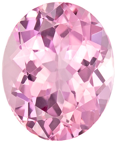 Pure Pink Tourmaline Natural Gemstone African Origin in Oval Cut, 11 x 8.9 mm, 3.6 Carats