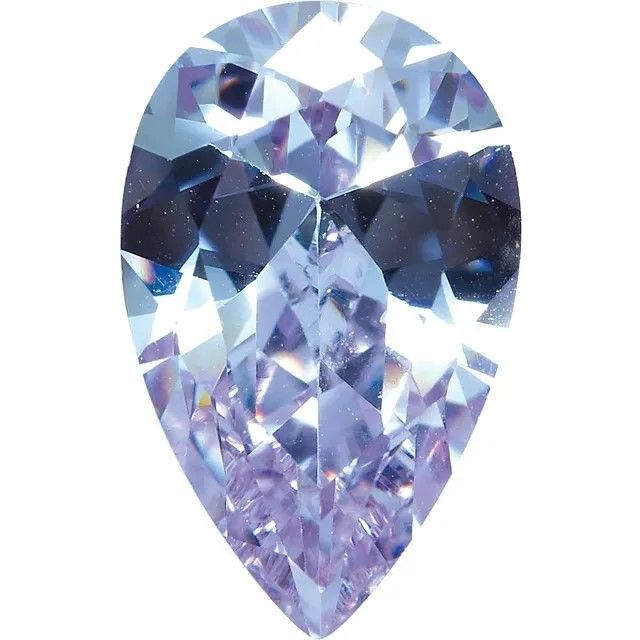 Purple Cubic Zirconia Pear Cut Stones
