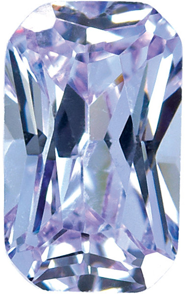 Purple Cubic Zirconia Radiant Cut Stones