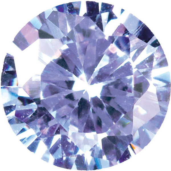 Lavender Cubic Zirconia Loose Faceted Gemstone Round Shape Sized 6.00 mm