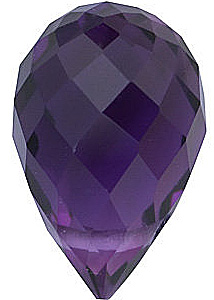 Quality Amethyst Loose Gemstone in Briolette Shape Grade AA 10.00 x 5.00 mm in Size 1.7 carats