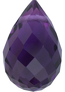 Quality Amethyst Stone, Briolette Shape Grade AA, 10.00 x 5.00 mm Size, 1.7 carats