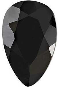 Quality Black Onyx Gemstone, Pear Shape Faceted, Grade AA, 5.00 x 3.00 mm in Size