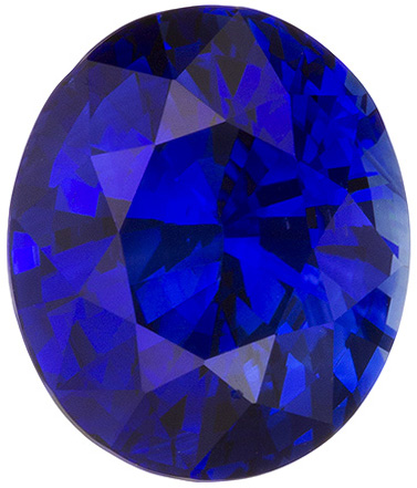 Quality Blue Sapphire Loose Gem in Oval Cut, Intense Rich Blue, 9.8 x 8.4 mm, 4.09 carats - GIA Certified